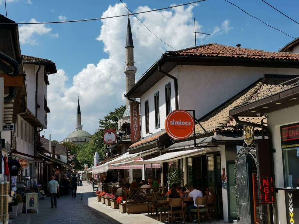 Restaurants in der Altstadt von Sarajevo
