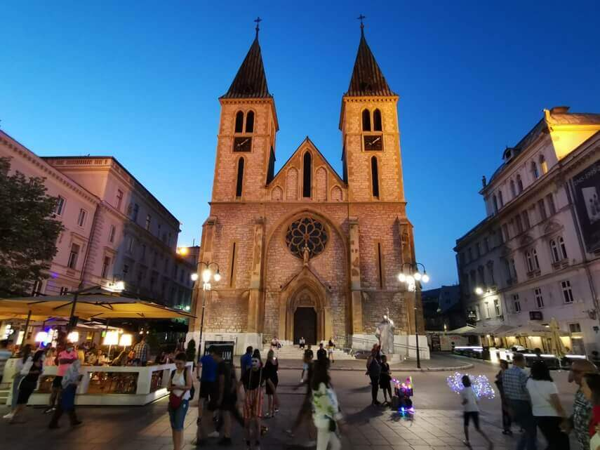 Die römische Kathedrale von Sarajevo