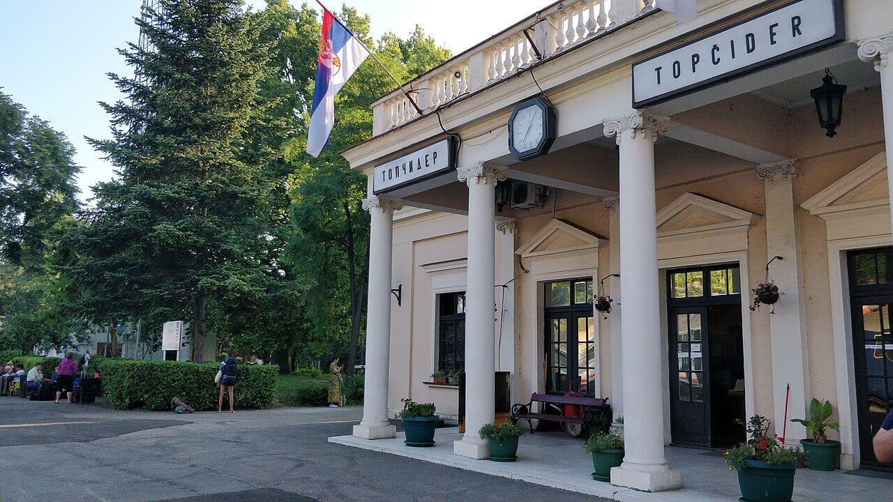 Belgrad Topcider Bahnhof, Startpunkt der Strecke Belgrad -Bar