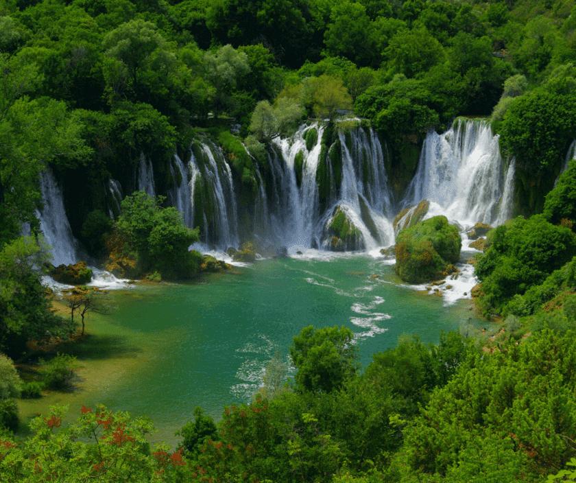 Wasserfall in bosnien und herzegowina